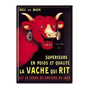 PLAQUE METAL PUBLICITAIRE Bel et Bon 2 FORMATS DISPONIBLES Vache qui rit
