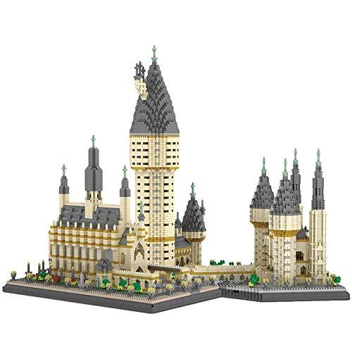 Perfekt Hogwarts Castle Building Blöcke Modell, 3D Puzzle Gebäude Modell Kits, Sammelmodell, Sammelspielzeug für Kinder, DIY Dekoration und Souvenirgeschenk für Erwachsene und Kinder, 7750 Teile