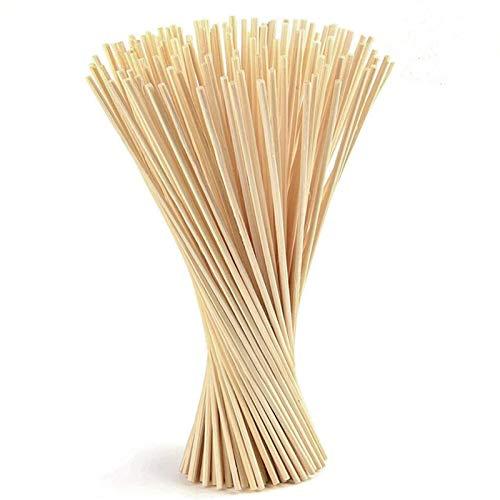 A/A 100 Piezas Palos de Difusor Reed, 21 cm x 3mm Varillas Difusor,Varillas de Reed de Rattan de Madera Varillas Difusor de Aroma de Aceite Esencial,para baños Domésticos Difusor de fragancias