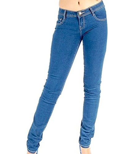 Loomiloo Blauwe Jeans Skinny Slim Stretch Dames