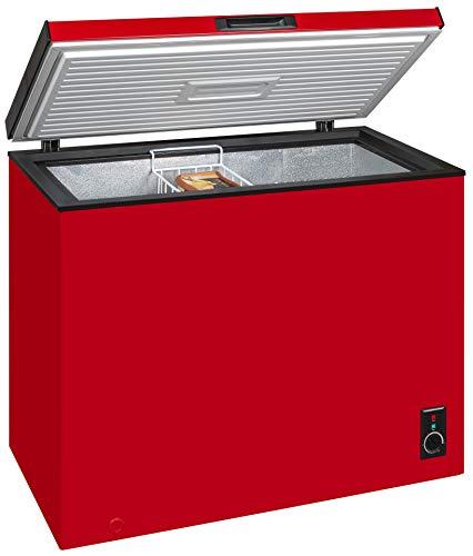 Exquisit Gefriertruhe GT 261-5 A+Rot | Standgerät | 197 Liter Nutzinhalt | rot