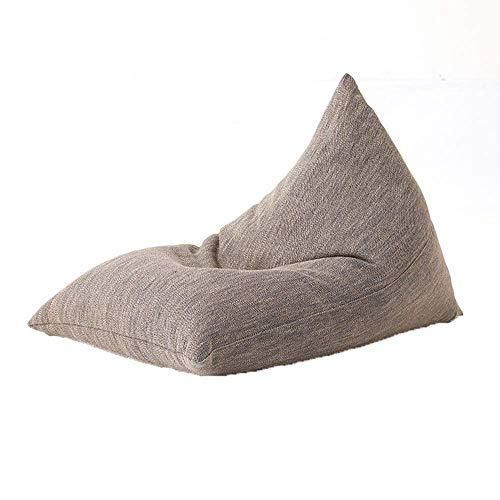 GWZSX Lazy Couch Single Floor Seat Creative Lazy Sofa Bean Bag Chair Desmontable y Lavable Lazy Cushion Bedroom Bed Computer Chair-72x100cm Marrón72x100cm