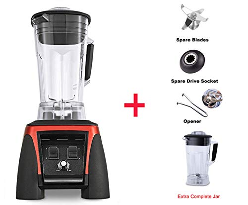 Lowest Prices! Power Blender Juicer Food Processor Mixer 45000RPM 2200W 2L Jar,RED EXTRA JAR PARTS,E...