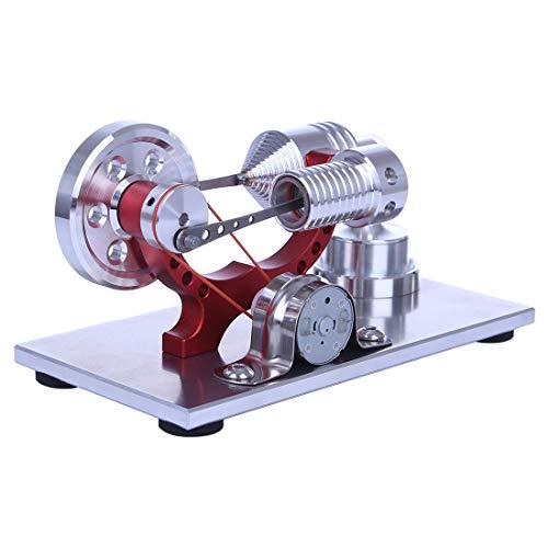 AMITAS Stirlingmotor Bausatz Einzylinder Metall Stirlingmotor DIY Modell mit Generator Geniale Physik gepackt