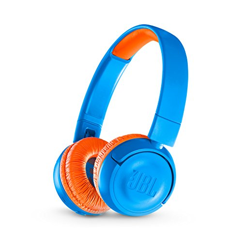 JBL JR 300BT Kids On-Ear Wireless Headphones Safe Sound Technology (Blue/Orange)