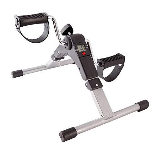 DeskShaper Pedaltrainer Arm- und Beintrainer Heimtrainer Mini Fitness Trainer | mit LCD und Einstellbarer Widerstand | einfach und lustig