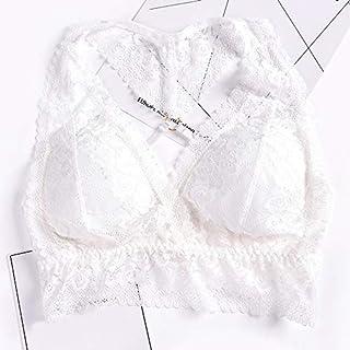 GoolRC المرأة الرباط حمالة الصدر مبطن اللاسلكية الصليب الخلفي حمالة الصدر الأعلى الملابس الداخلية الداخلية