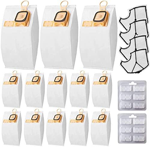 Awinker 12 bolsas para Folletto VK140 VK150, incluye 4 filtros HEPA 12 ambientadores recambios Folletto