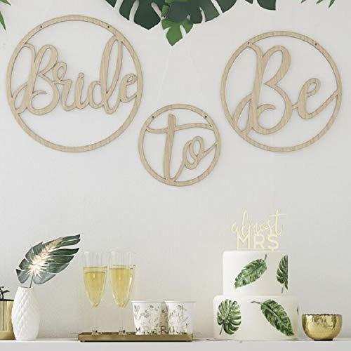 Miss Lovely muurschildering/wanddecoratie Bride to BE van hout kamerdecoratie JGA vrijgezellenfeest accessoires & accessoires bruid