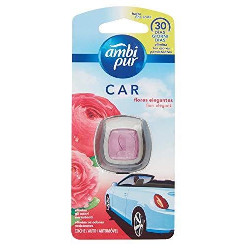 Ambi Pur Auto Geruchsentferner für die Auto mit Clip, Blumen, 2ml