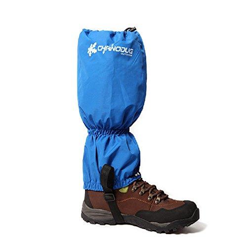 Gmm lifestyle Guêtres de protection légères et étanches pour la neige, l'escalade, la chasse, la randonnée dans la neige (bleu)