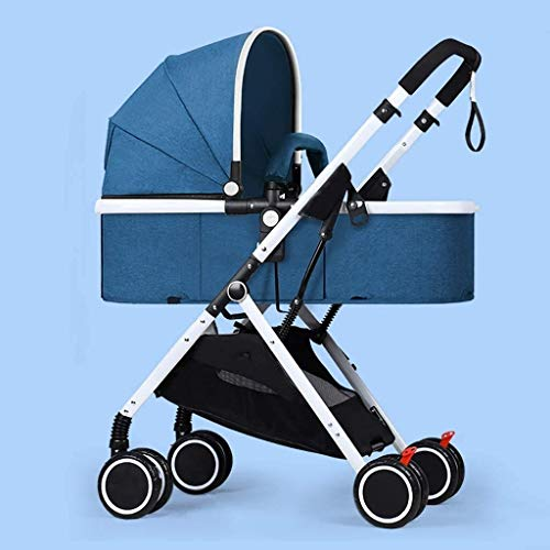 BESTPRVA Portátil cochecito de bebé del carro de bebé cochecito ligero del cochecito de bebé, cochecito convertible reclinable, plegable y portátil del cochecito de niño del carro antichoque Silla de