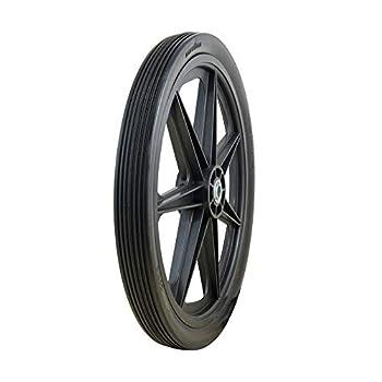 Marathon 92001 20x2.0 Flat Free Cart Tire on Plastic Rim 3/4  Bearing 1 Pack