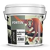 PINTURA MATE EXTERIOR/INTERIOR LAVABLE, Super cubriente, blanco lustroso (12 kg)