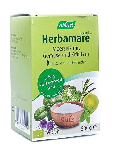 Herbamare Frischkräuter-Meersalz Nachfüllpackung, 500 g Salz
