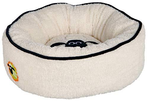 Trixie 36889 Shaun das Schaf Bett rund, creme