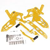Rearsets Fousets Foot Pegs Kit for MT-10 MT10 MT 10 2017 Accesorios for Motocicletas (Color : Gold)
