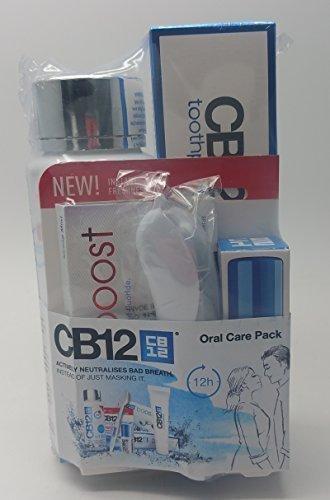 CB12 Mundwasser Bade Atmung Geschenkset, 250ml Minze Mundwasser, 100ml Zahnpasta, 10 TLG Kaugummi, Zahnbürste Reisegröße Mundwasser and Zahnpasta Einsteigerpaket