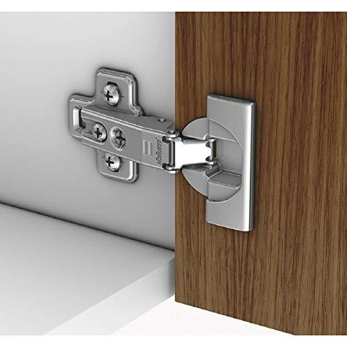 Gedotec Topfscharnier Küche Topfband für Kühlschrank-Türen - H10416 | Blum Modul 95° | Scharnier zum Schrauben | Modell 91K9550 | MADE IN AUSTRIA | 1 Stück - Möbelscharnier 95° mit Kreuz-Montageplatte