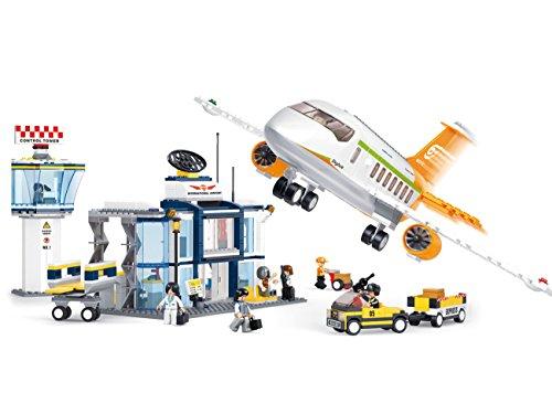 Sluban Aviation M38-B0367 – Set de construcción, aeropuerto internacional