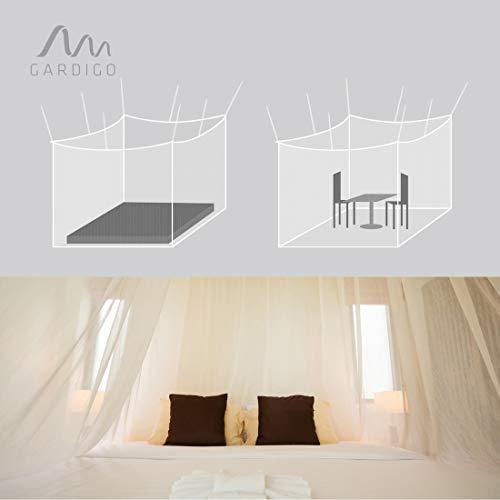 Gardigo 25200 - Mosquitera Doble Cama Mesa Camping; Interior y Exterior; Anti-Insectos Moscas y Mosquitos; 200 x 220 x 200 cm