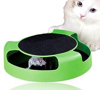Bayli Jouet interactif pour chat [Attrapez la souris] Jouet pour chat avec souris en tissu pour faire ses griffes | Chasse souris – Jouet interactif pour chat | Jeu amusant, intelligence