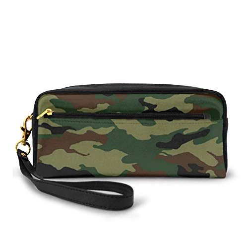 Pencil Case Pen Bag Pouch Stationary,Fashionable Graphic Uniform Inspired Camouflage Clothing Design,Small Makeup Bag Coin Purse
