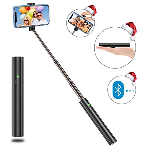 Bovon Bastone Selfie, Estensibile Selfie Stick Monopiede,Asta Selfie con Bluetooth Remote Shutter per iPhone 11 PRO Max/XS/XS Max/XR/X/ 8 Plus, Galaxy S10 Plus/S10 /S9 /8 /Note,Huawei,Nubia,Altro