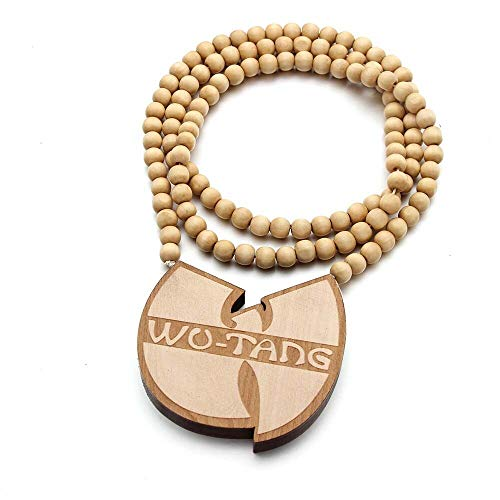 VAWAA Wooden Supremes Collar Hiphop Marihuana Maple Leaf Chain Franco Hip Hop Punk Colgante Collar Rap Estrella para los Hombres