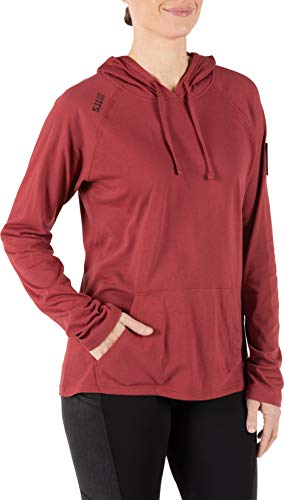 5.11 Tactical Series Cruiser Hoodie Femme, Cabernet, FR : M (Taille Fabricant : M)