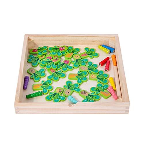 Balacoo Catch Magnetic Worm Juegos de Clasificación de Vegetales Juguetes Montessori Juguete Educativo del Tallo Temprano para Niño Y Niña