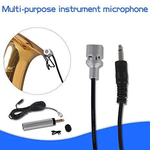 N/A NIEUWE Mini Draagbare Elektrische condensator Lapel Lavalier Clip-on Muziekinstrument Microfoon voor Gitaar Sax Trompet Viool