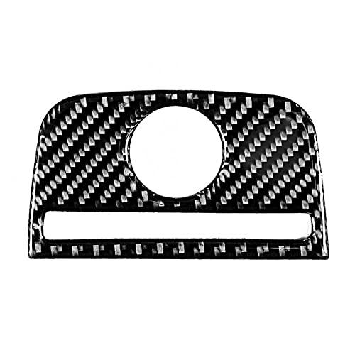 loulou Tapa Trasera del Panel del Encendedor de cigarros Cubierta de Ajuste de Fibra de Carbono Etiqueta engomada de la decoración para Audi A3 8V 2014-2019