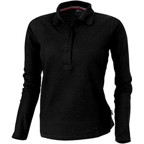 Slazenger Damen Point Langarm Polo Shirt (XL, Schwarz)