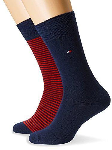 Tommy Hilfiger 342029001, Calcetines para Hombre, Rojo (Original 085), 39/42 (Tamaño del fabricante:039) (Pack de 2