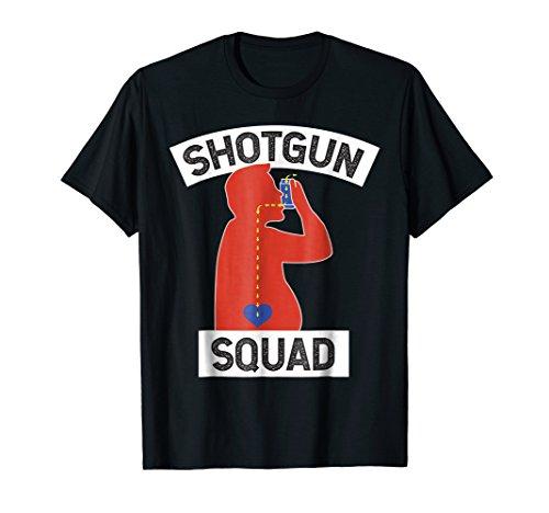 Funny SHOTGUN SQUAD Shotgunning Beers Partying T-Shirt