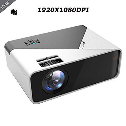 QLPP Beweglicher Miniprojektor, Full HD 1080P LED 10000 Lumen Low Noise-Miniprojektor WiFi Handy mit Screen Home Theater