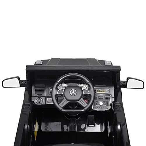 RC Auto kaufen Kinderauto Bild 5: vidaXL Kinderauto 2 Motoren 2x15W Schwarz Kinder Elektroauto Kinderfahrzeug*