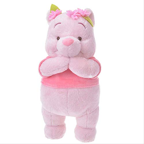 25cm Pink Cherry Blossom Bear Stuffed Toys Birthday Gift For Children Cute Kids Plush Winnie Dolls