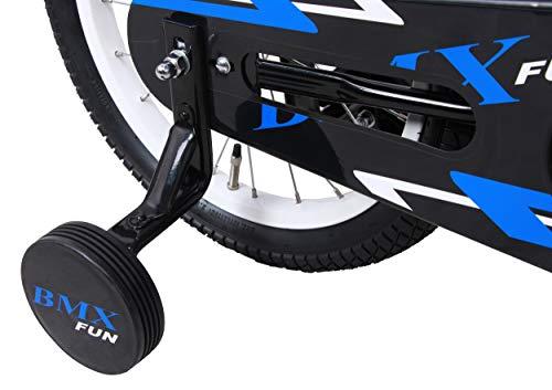amiGO BMX Fun – Kinderfahrrad – 16 Zoll – Jungen – mit Rücktritt und Stützräder – ab 4 Jahre – Schwarz/Blau - 6
