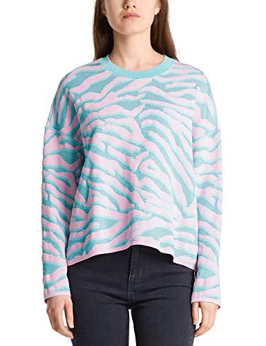 Marc Cain Sports Damen MS 41.11 M02 Pullover, Mehrfarbig (Chewing Gum 215), 40 (Herstellergröße: 4)