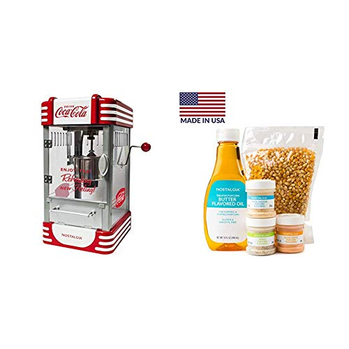 Review Nostalgia RKP730CK Coca-Cola 2.5-Ounce Kettle Popcorn Maker with Popcorn Kit