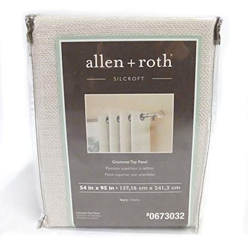 allen + roth Silcroft 95-in Ivory Chenille Grommet Light One Curtain Panel