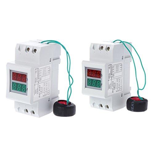 2P 36 mm DIN-Schiene Dual LED Spannung Strom Meter Voltmeter Amperemeter AC 80-300V 250-450V 0-100A