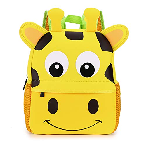 IGNPION Nursery Kids Backpacks Toddle Children School Bag Zoo Lunch Bag 3D Cute Animal Cartoon Preschool Rucksack (3-7 Years Old) (Giraffe Large)