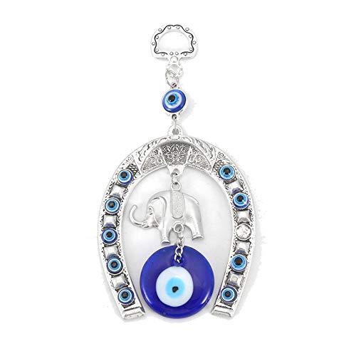 TDlmfRDi Encantos Colgantes de Cristal de Ojos Colgantes Suerte Amuleto Turco Colgar de la Pared Principal Año Decoración Adornos para el Regalo
