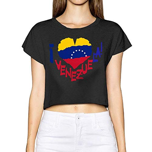 Teenagers Teen Girl Venezuela Flag Map Printed Long Sleeve 100/% Cotton Tops