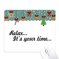 引用は、リラックスタイム ゲーム用スライドゴムのマウスパッドクリスマス
