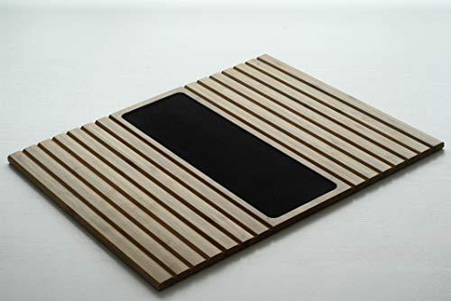 Bandeja de madera bambú para sofá o reposabrazos Organizador con base EVA Antideslizante mesa