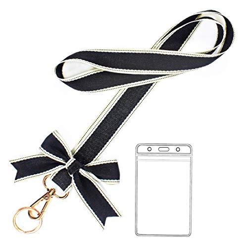 Car Keys Black Lanyard Keychain Holder for Women ID Card Badge Holders with Lanyard Office Neck Strap Lanyard for Women(1 Pack)